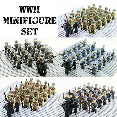 21pcs WWII Germany US British Japan Army Soldiers Minifigures Military Fit Lego  • 22.95£