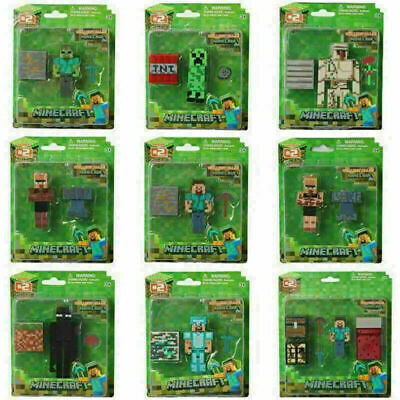 Minecraft Overworld Action Figure Toys Steve Enderman Creeper Diamond Party XMAS • 7.08£