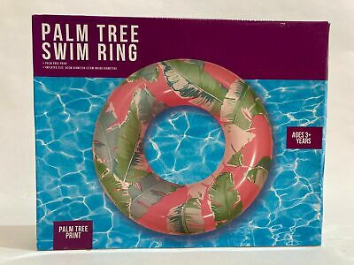 NEW Palm Tree Swim Ring Ages 3+ Inflated Size 82cm Diameter • 8.50£