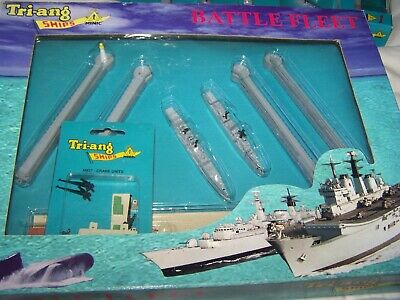 Tri-ang Minic Ships Battle Fleet 1:1200 Scale S730 Naval Harbour Boxed Set  • 39.99£