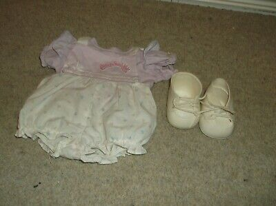 Very Rare VINTAGE COLECO CABBAGE PATCH KID OUTFIT 2 PIECE + COLECO SHOES  • 17.49£