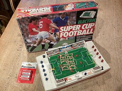 Tomy Super Cup Football Electric Vintage Box Complete And Working + Batteries!⚽️ • 62£