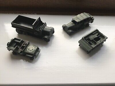 Army Dinky Toys 153 Jeep 151 6 Wheel152 Reconn 162 Tractor Antique Vintage Lot  • 11.50£