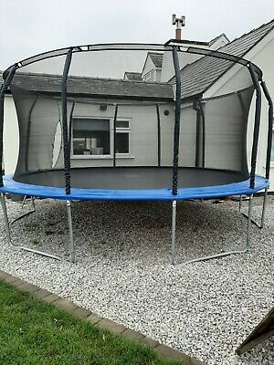 Trampoline With Safety Enclosure And Ladder ( 3 Years Old) • 100£