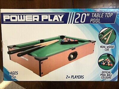 Power Play Table Top Pool Game, 20 Inch • 5£