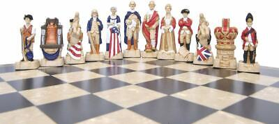 SAC American Revolutionary War Chess Set Hand Painted With Wooden Board UK Made. • 385£