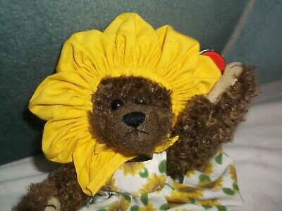 SUSANNAH! TY ATTIC TREASURES C1993 TAGGED BEAR IN BONNET 9  YOU ARE MY SUNSHINE  • 4.29£