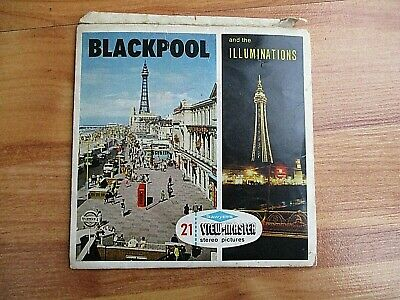SAWYER, VIEW MASTER, BLACKPOOL, 21 PICTURES ON 3 X 3D REEL SET. No. C289 • 16£