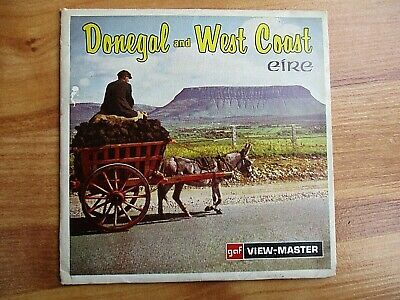 GAF, VIEW MASTER, DONEGAL AND WEST COAST EIRE, 21 ON 3 X 3D REEL SET. No. C342 • 20£