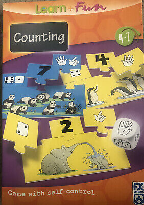 Learn And Fun Counting Puzzle Game Age 4-7 • 5£
