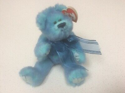 Lovely Ty Attic Treasures Jointed Blue Bear Azure With Tag 1993 • 4£