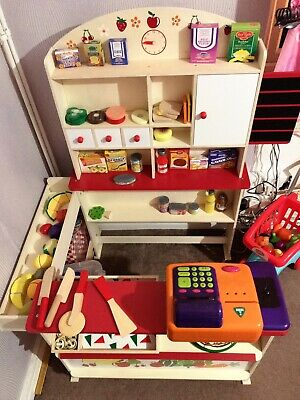Shop Toy Shopping & Grocery Shopkeeper Play Gift • 40£