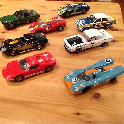 Scalextric / Pioneer - JOB LOT - 8 Cars - Porsche 917 / Mustang / Ford GT40 • 49£