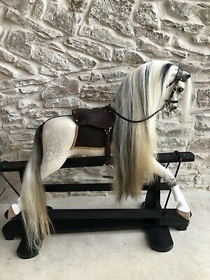 Vintage Antique Wooden Rocking  Horse By Baby Carriages Of Liverpool Renovated • 2,500£