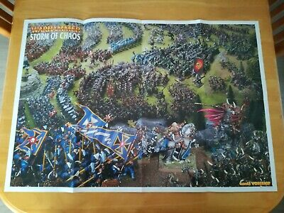 Warhammer Storm Of Chaos Old World Map 2 Sided Poster In Excellent Condition • 6.50£