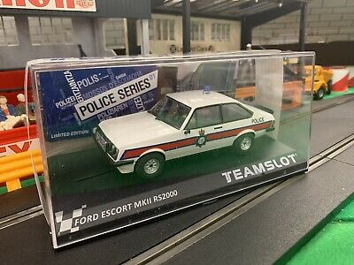 Team Slot SRE14 Ford Escort MKII RS 2000 Police Car NEW (like Scalextric SCX ) • 49.99£