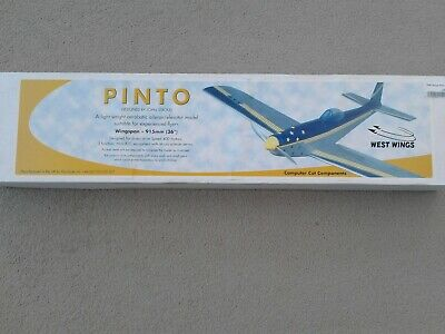 West Wings Pinto Aerobatic Balsa Radio Controlled Model Aircraft Kit Westwings • 12.50£