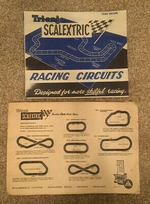 Vintage Tri-ang Scalextric Racing Circuit Booklet & Envelope Third Edition 1960 • 7£