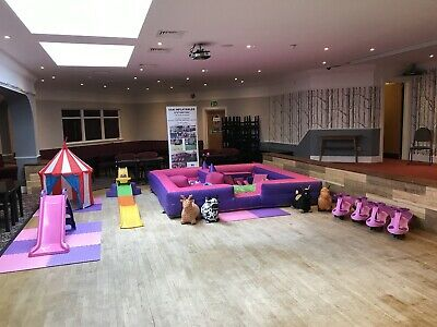 Commercial PINK SOFT PLAY Surround Full Set Up  BOUNCY CASTLE Business • 499£