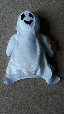 TY Retired Collectable  Sheets  The Halloween Ghost Beanie Baby • 3.50£