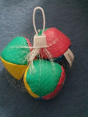 Learn To Juggle - Set Of 3 Juggling Balls Circus Clown Coloured Toy Game Soft  • 0.99£