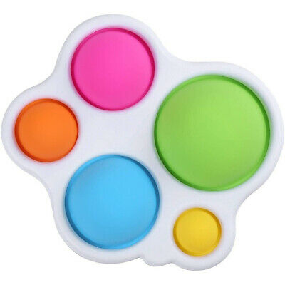 Baby Sensory Fidget Toy Kids Teething Toys Simple Dimple Silicone Flipping Board • 3.99£