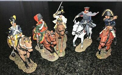 Del Prado Cavalry Of The Napoleonic Wars X 5 Metal Figures/accompanying Booklets • 7.50£