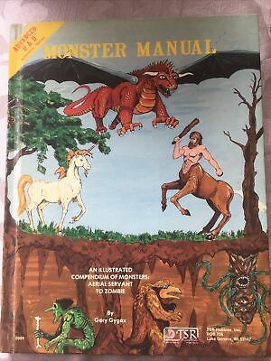 Advanced D & D Monster Manual. Illustrated Compendium Of Monsters. 1979 4th Ed • 12£