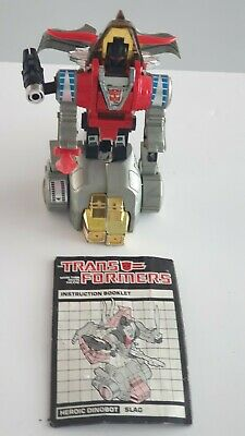 Vintage 1984 Transformers G1 Autobot Dinobot Slag With Sword And Launcher • 45£