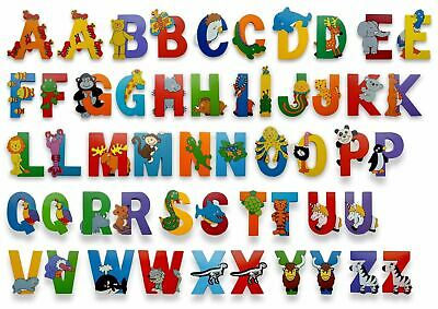 Vinsani Wooden Jungle Animal Upper Case Alphabet Letters Self Adhesive • 1.99£