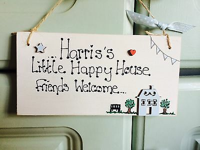 Personalised Wooden Childrens Playhouse Bedroom Wendy House Door Sign Plaque  • 5.95£