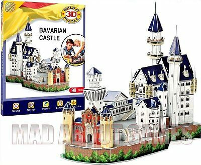 BAVARIAN CASTLE * 3D MONUMENTAL PUZZLE * BAVARIA* Gift Construction Kit • 15.99£