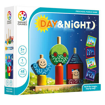 Day And Night Logic Puzzle - Smart Games Wooden Brainteaser For Young Children • 23.95£