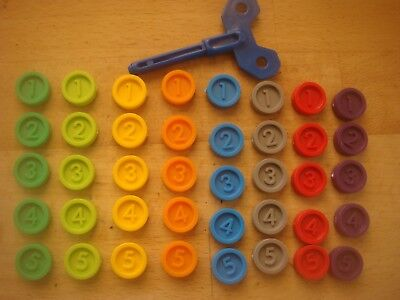 MB Games Downfall Spare Parts Counters 8 Different Colours / Key / Instructions  • 4.99£