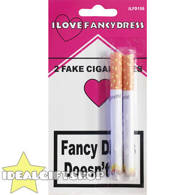 Fake Cigarette Lit Fags Joke Prank Funny Party Novelty Magic Trick 2 Two Pack • 2.99£