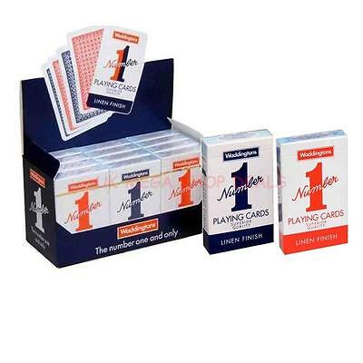 New Decks Of Waddington No1 Classic Playing Cards Red Blue Multi Buy Number1  • 12.99£