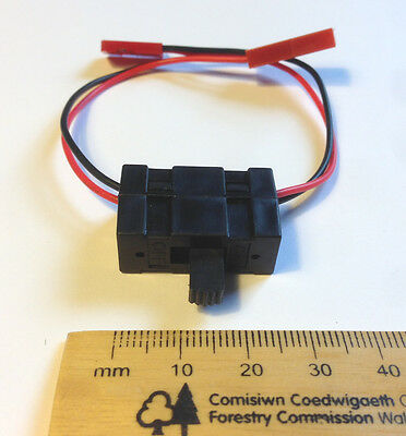 On Off Battery Box Switch For RC Car/buggy/drone - JST Male To Futaba Female HSP • 2.75£