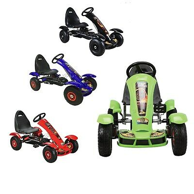 GALACTICA Children's Go Kart – Pedal Car For Kids GoCart With Handbrake G03 • 74.99£