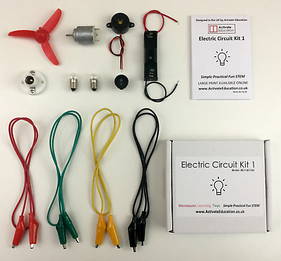 Electric Circuit Kit - Kids STEM School Science And Project - Montessori UK  • 9.95£
