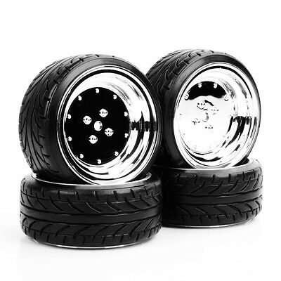 4Pcs Flat Drift Tires Wheel 12mm Hex 292&107 For HPI HSP 1:10 RC On-Road Car  • 10.12£