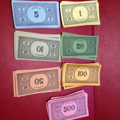 Monopoly - 90 Plain Back Notes Bank Notes Money - 60/70/80'S Spare / Replacement • 3.99£