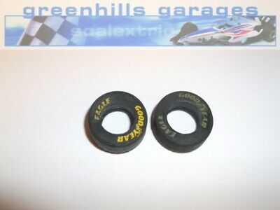 Greenhills Scalextric Formula 1 Front Tyre Pair Goodyear Eagle Lettering Yell... • 3.99£
