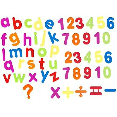 52 Piece Magnetic Alphabet Letters & Numbers Maths Symbols Colour Fridge Magnets • 3.99£