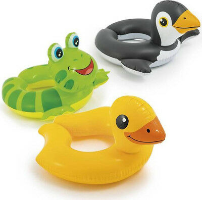 Intex Childrens Inflatable Animal Split Ring Swimming Pool Summer Beach Float   • 2.99£