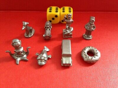Parker Bros The Simpsons Monopoly Spare / Replacement Playing Pieces / Dice • 2.49£