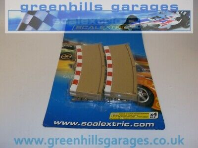 Greenhills Scalextric Radius 2 Curve Outer Borders & Barriers 22.5 Degree X 4... • 15.39£