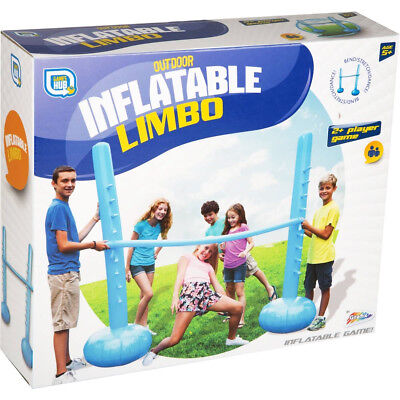 Inflatable Limbo Pole Stand Set Garden Fun Games Party Outdoor Balance Family  • 10.95£