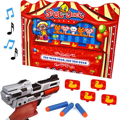 Duck Shooting Game Moving Target Kids Fun Toy Sounds Darts Indoor Xmas Gift Set • 9.99£