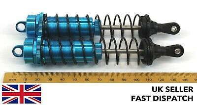 Blue Aluminium Shock Absorbers For RC Buggy/model 140m 132mm X 25mm 1/8 Scale • 15.25£