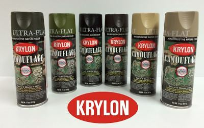 KRYLON Camouflage Paint Fusion Technology Various Colours Available Military • 15.99£